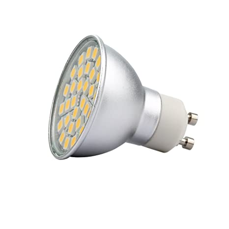 4 Unidades Bombilla LED Dimmable Standard GU10, 10 W correspondientes a 75 W, Luz