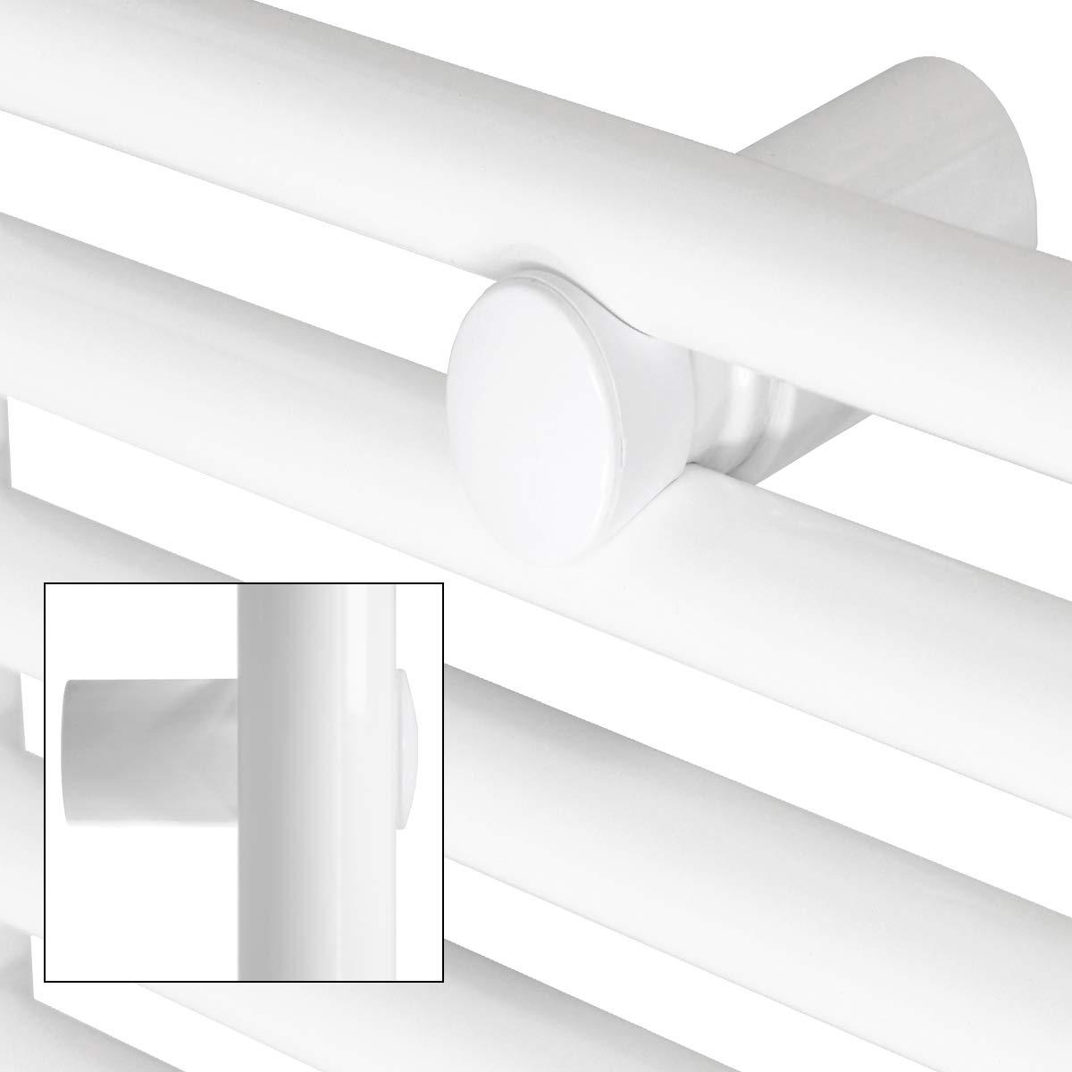 Wei/ß Heizk/örper Handtuchw/ärmer Handtuchtrockner 750 x 1200 mm ECD Germany Badheizk/örper gerade mit Seitenanschluss