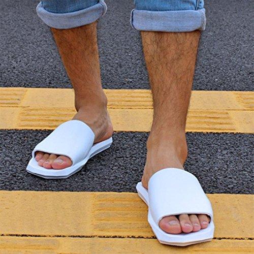 Malloom® Sandalen, Frauen Herren Paar Sommer Innen-und Outdoor-Hausschuhe Soft Bottom Bad Hausschuhe Sandalen Schuhe Weiß Männer