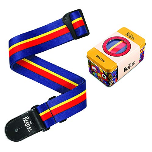 D'Addario Yellow Submarine 50th Anniversary Collectible Guitar Strap & Tin (John (50BTYS00))