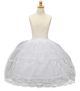 cca2a36efb3c BRL MALL 2 Hoop White Girls' Petticoats Children Slip Flower Girl Petticoat