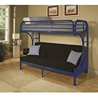 ACME Furniture 02091W-PU Eclipse Futon Bunk Bed, Blue