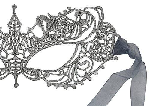 Luxury Mask Women's Stunning All Silver Lace Masquerade Mask Ana - http://coolthings.us