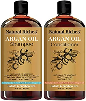 Natural Riches Moroccan Argan Oil Shampoo and Conditioner Sulfate Free Set