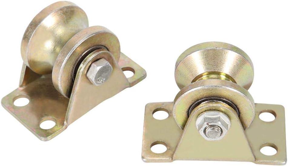 Fditt 2 Piezas 32 mm Tipo U Puerta corredera Rodillo Puerta corredera Rueda para Puerta corredera Pista máquinas industriales