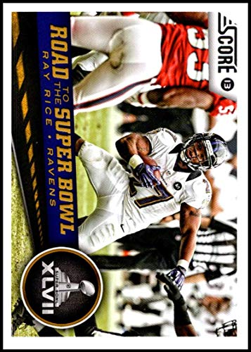 (2013 Panini Score Road to the Super Bowl #257 Ray Rice NM-MT Baltimore Ravens Offiicial NFL Football Card)