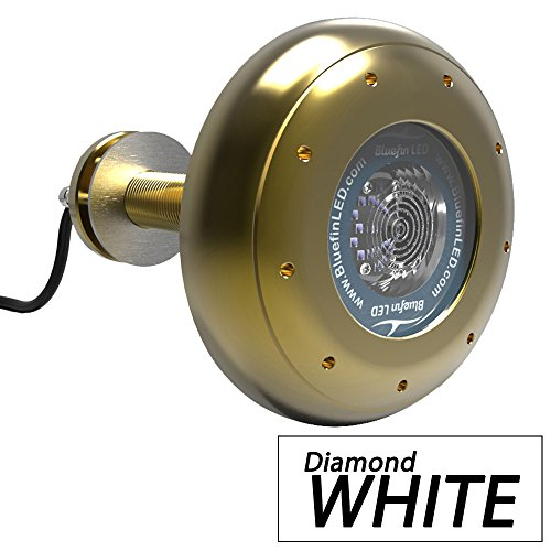 (Bluefin LED Stingray S16 Thru-Hull Underwater LED Light - 5600 Lumens - Diamond White (53382))