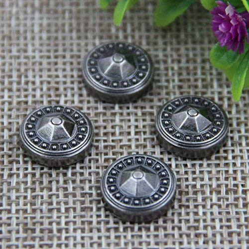 wotoy 50pcs New Convex Nails Large Round Alloy Accessories Leather Decorative Rivets Environmental Cap Nail