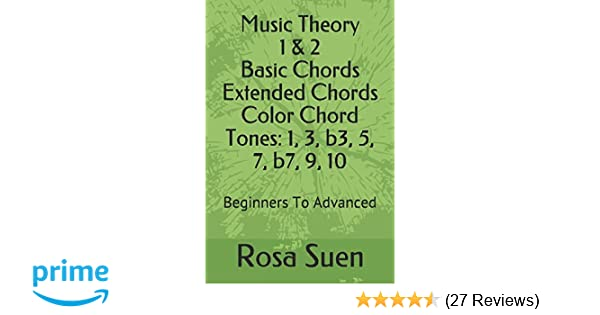 Music Theory 1 2 Basic Chords And Extended Chords Color Chord