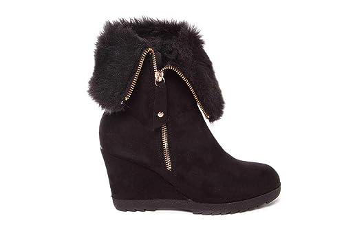 Cuña Amazon Zapatos Mandarina es Complementos Df1839 Y Botín nxfwW8Hx