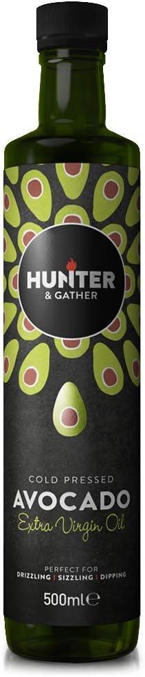 Hunter & Gather Puro, Virgen, Prensado En Frío Aceite de Aguacate 500ml