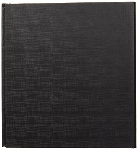Aurora GB Elements Ultra Binder, 1 1/2 Inch Round Ring, 8 1/2 x 11 Inch Size, Black , Linen Embossed, Eco-Friendly, Recyclable, Made in USA (AUA09433)