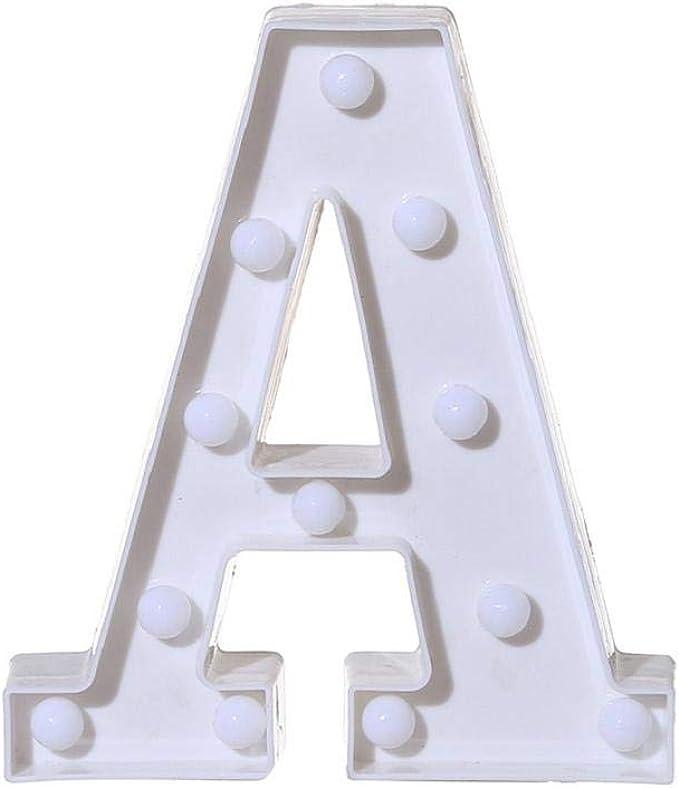 Dress/® Alphabet Letter Lights LED Light Up White Plastic Letters Standing Hanging A-M /& Arrow D, 22cm X 18cm X 4.5cm /&