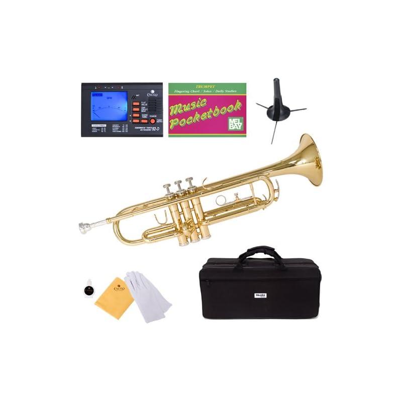 Mendini MTT-L Gold Lacquer Brass Bb Trum
