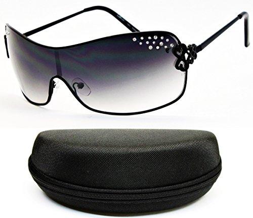 D5035-CC Diamond Eyewear Metal Sunglasses (O1914B Black-Smoked) - Black Dg Oversized Designer Sunglasses