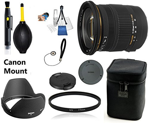 Sigma 17-50mm f/2.8 EX DC OS HSM Zoom Lens for Canon DSLRs with APS-C Sensors Lens Bundle + UV Filter -  Photo King, pk-235