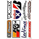 Sponsors Decal Sticker Tuning Racing Sheet Size: 27 x 18 cm for Car or Motorbike