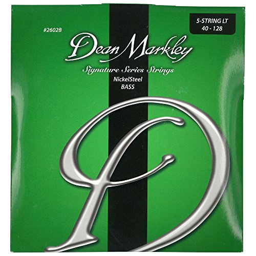 dean markley nickelsteel signature 5 string bass guitar strings 40 128 2602b light bass. Black Bedroom Furniture Sets. Home Design Ideas