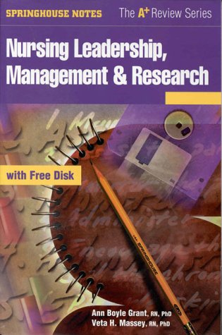 (Nursing Leadership, Management & Research (Book with Diskette for Windows))