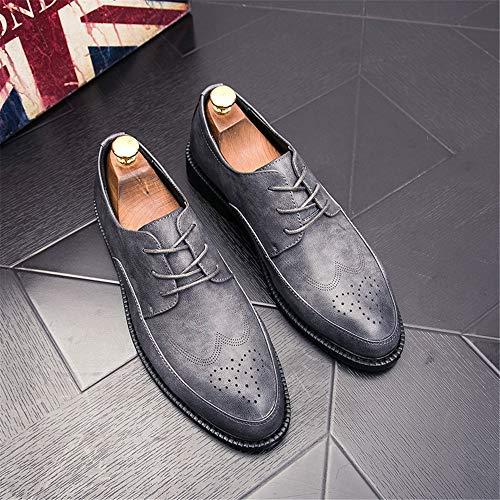 Brogue Oxford color Para Antideslizante Pu De 42 Formales Gris Cuero Negocios Afcity Boda Transpirable Fiesta Inteligentes Moda Tamaño Zapatos Eu Hombre Negro qSfz0z