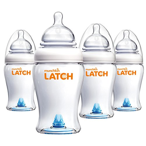 Munchkin Latch BPA-Free Baby Bottle, 8 Ounce, 4 Pack