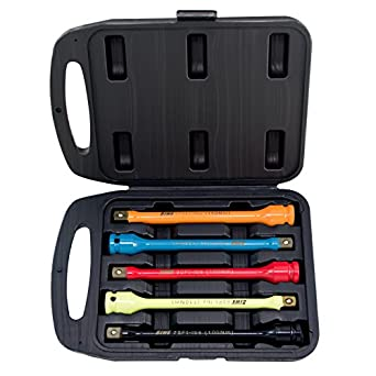 Drive Torque Limiting Sticks Impact Socket Extension Bars 1//2 In 5-Piece Set