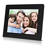 7 inch Digital Photo Frame with High Resolution LCD Screen - Built-in Slideshow Function - Super Easy to Set-up (Black)