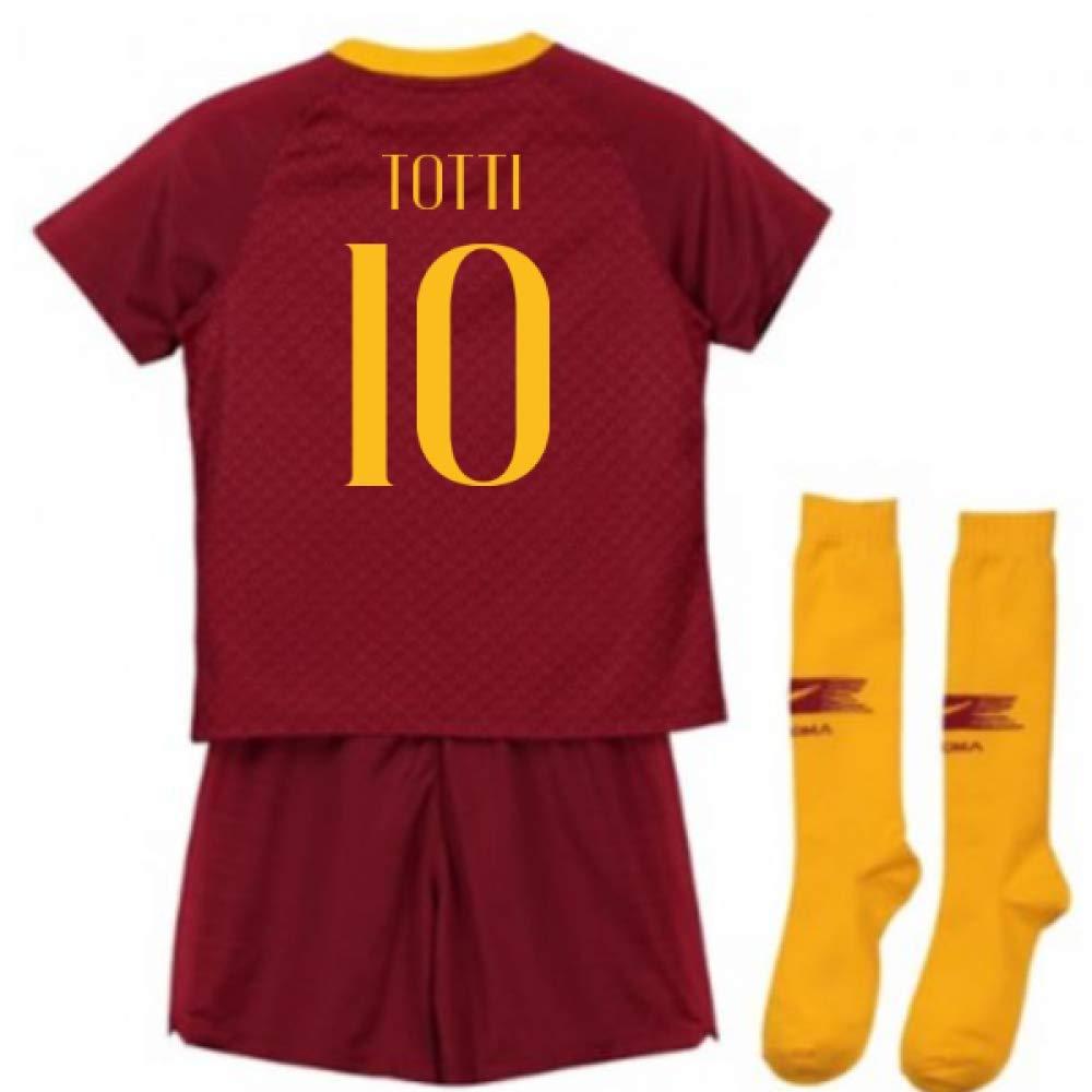 UKSoccershop 2018-2019 AS Roma Home Nike Little Boys Mini Kit (Francesco Totti 10)