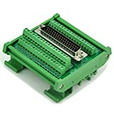 Electronics-Salon D-SUB DB50 Male DIN Rail Mount Interface Module, Breakout Board.