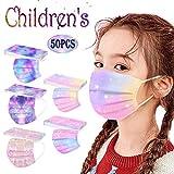 AIHOU 50PCS Kids Disposable Face Mask Childrens