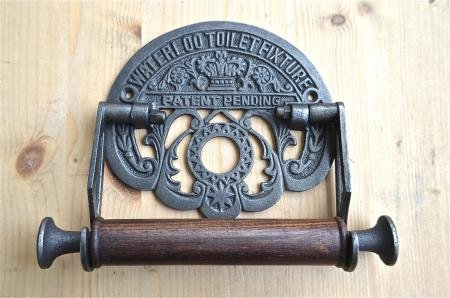 ANTIQUE STYLE WATERLOO TRAIN STATION TOILET ROLL HOLDER WALL MOUNTED IRON WH38