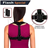 Back Posture Corrector for Women Men Kids by BV ♦ STANLESS STEEL CLASPs ♦ Fully Adjustable Breathable Comfortable & Effective Back Brace ♦ Perfect For for Slouching and Hunching