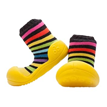 b44af7acfd40d Amazon.com: Attipas Big Toe Box Toddler ShoeRAINBOW Yellow X Large: Baby