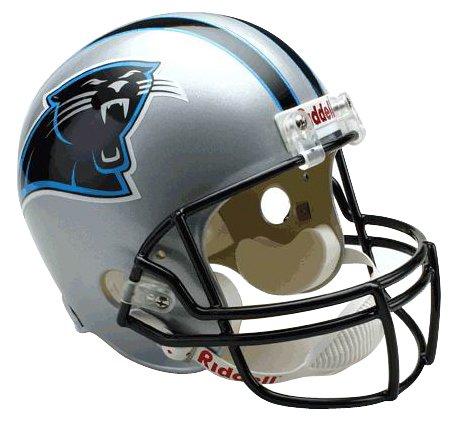 Riddell Panthers Carolina Replica Helmet - NFL Carolina Panthers Deluxe Replica Football Helmet