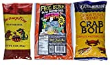 Louisiana Crawfish, Shrimp and Crab Seafood Boil Sampler Bundle - 1 each of Frog Bone, Swamp Fire and Zatarain s Complete Boil (1 Pound each)
