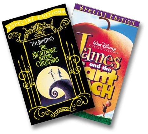 The Nightmare Before Christmas/James and the Giant Peach (Special Widescreen Editions Two Pak) [VHS] Henry Selick Nightmare Before Christmas