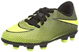 Nike Boy's JR Bravata II FG Soccer Cleats (10 Toddler M, Black/Volt)