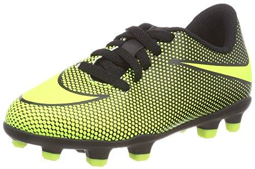 Nike Boys JR Bravata II FG Soccer Cleats (13 Little Kid M, Black/Volt)