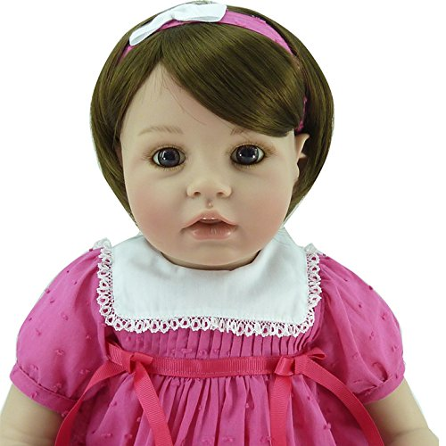 Lifelike Baby Dolls Real Look Toddler Girl Dummy Fake Kids Playmate for Children Gifts,20-Inch