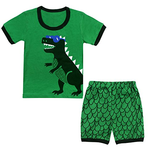 Dinosaur Sleepwear (Tkala Fashion Boys Dinosaur Pajamas children Clothes Set 100% Cotton Little Kids PJS Sleepwear)