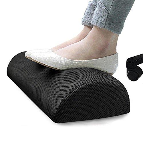 (Foot Rest Cushion Ergonomic Footrest Under Desk Foot Rest Comfort Foam Cushion for Office Home Travel)