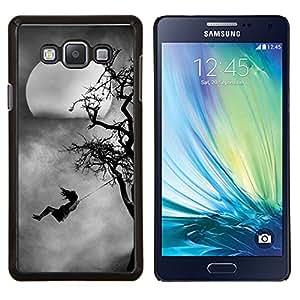 LECELL--Funda protectora / Cubierta / Piel For Samsung Galaxy A7 A7000 -- Kid Swinging Árbol Luna fantasmagórica --