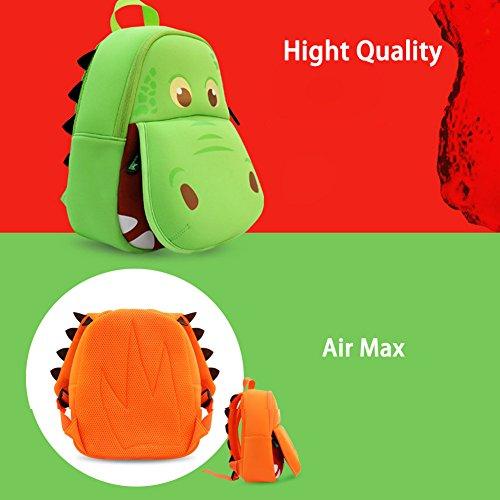 BINGONE Kinderrucksack 3D Karikatur aufrechtzuerhalten Orange