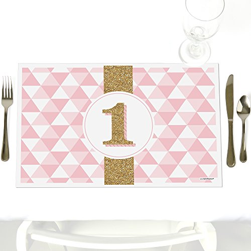 Fun to be One - 1st Birthday Girl - Party Table Decorations - First Birthday Party Placemats - Set of 12