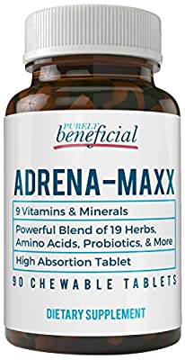 Adrena-Maxx - Natural Adrenal Supplement - Fatigue Relief, Supports Adrenal Function, Stress Response, Enhanced Energy - Pure, Organic Ingredients -... from PURELY benefical