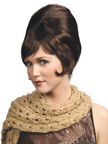 Enigma Wigs Women's Beehive, Brown, One