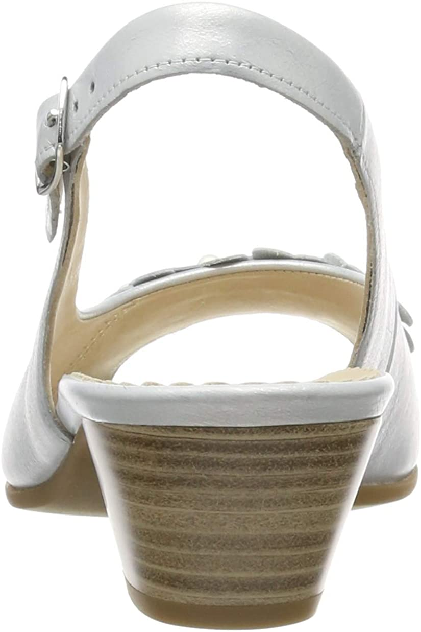 Gabor Women's Comfort Basic Ankle Strap Sandals Grey Argento 10