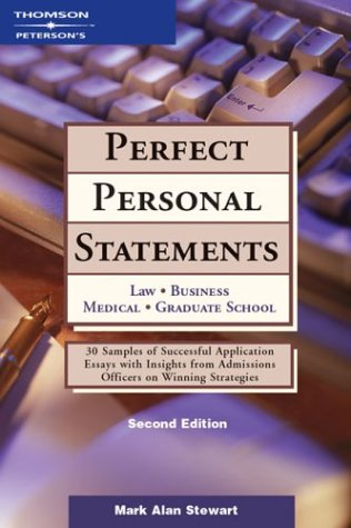 Peterson's Perfect Personal Statements