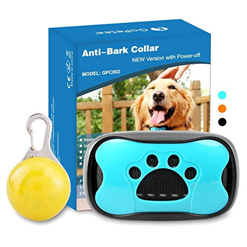 Gopetee Dog Bark Collar, Anti Barking Collar No Bark Control Training Collar with Beeps and Vibration - Safe Waterproof No Shock Stop Barking Collar Device for Small Medium Large Dogs by Gopetee