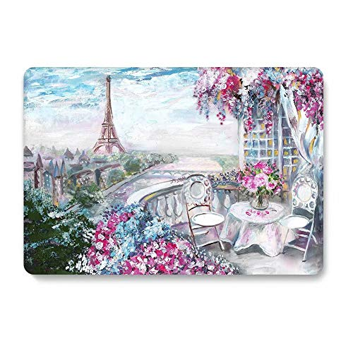 One Micron Compatible MacBook Air 13 Inch Case Plastic Pattern Hard Matte Case Shell Compatible MacBook Air 13.3 Inch (Model: A1369 and A1466)-Eiffel Tower